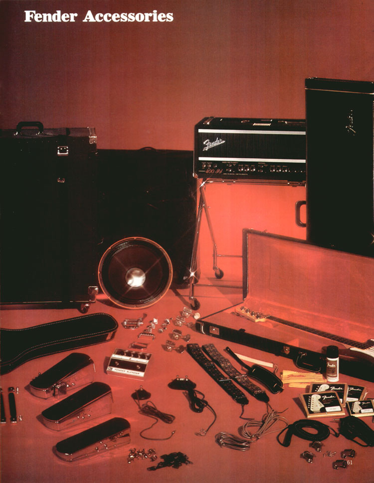 Fender accessories - 1972 Fender catalogue - page 63