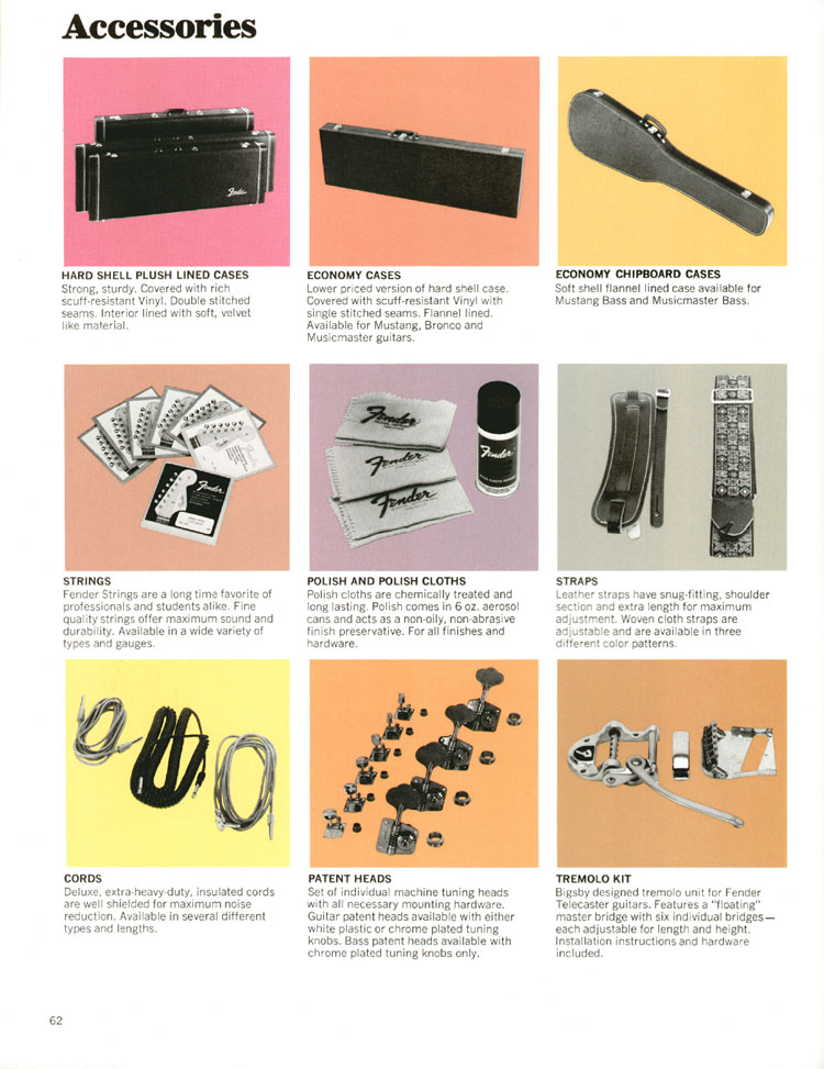 Fender Accessories - 1972 Fender catalogue - page 64