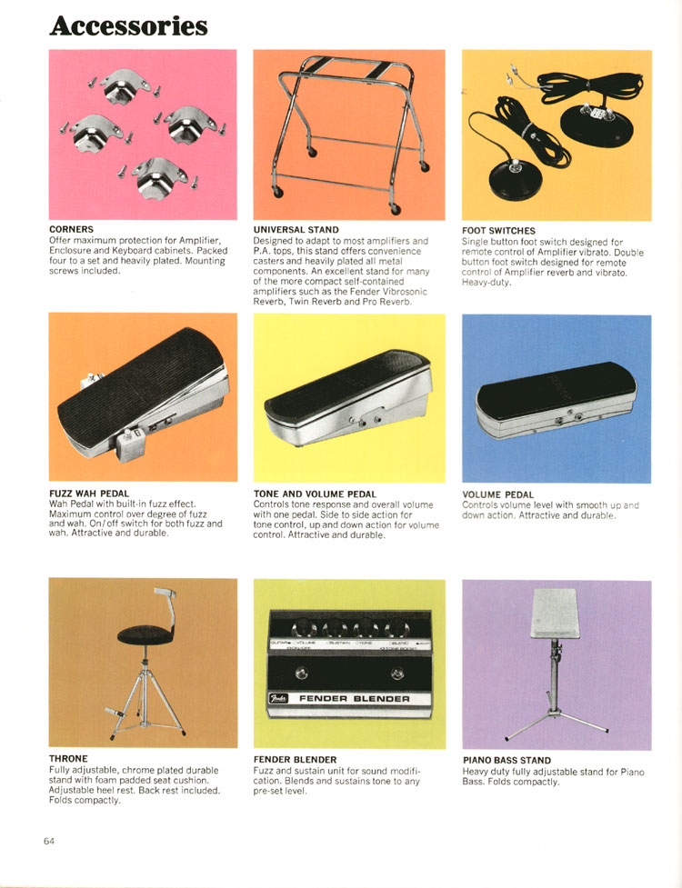 Fender Accessories - 1972 Fender catalogue - page 66