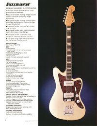 1972 Fender guitar and bass catalogue - page 6