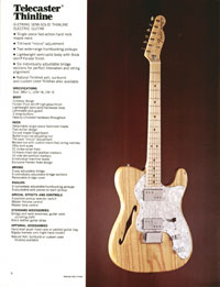 1972 Fender guitar and bass catalogue - page 8