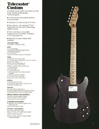 1972 Fender guitar and bass catalogue - page 9