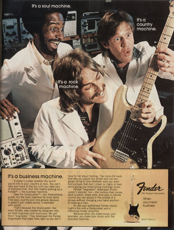 Fender advertisement (1977) Its A Business Machine