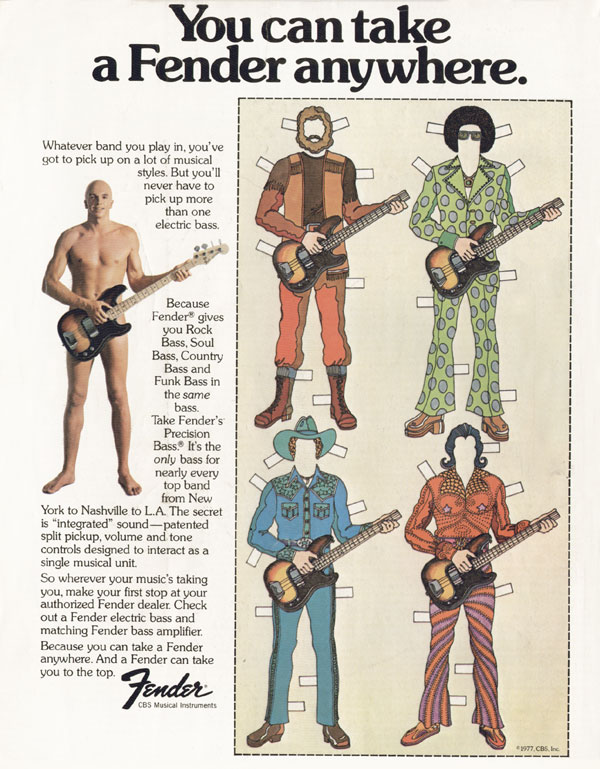 Fender advertisement (1977) You Can Take A Fender Anywhere