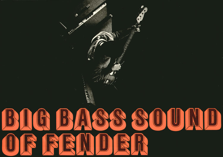 1969 Fender bass catalogue - Big Bass Sound of Fender - Cover