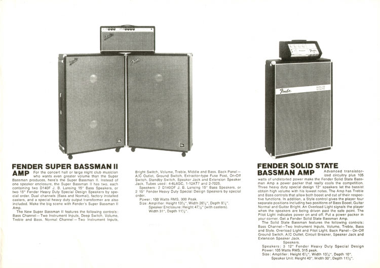 1969 Fender catalogue - Big Bass Sound of Fender - page 3