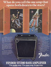 Fender Studio Bass - What Do You Call The One Amp That Opens Both Doors To The Stars