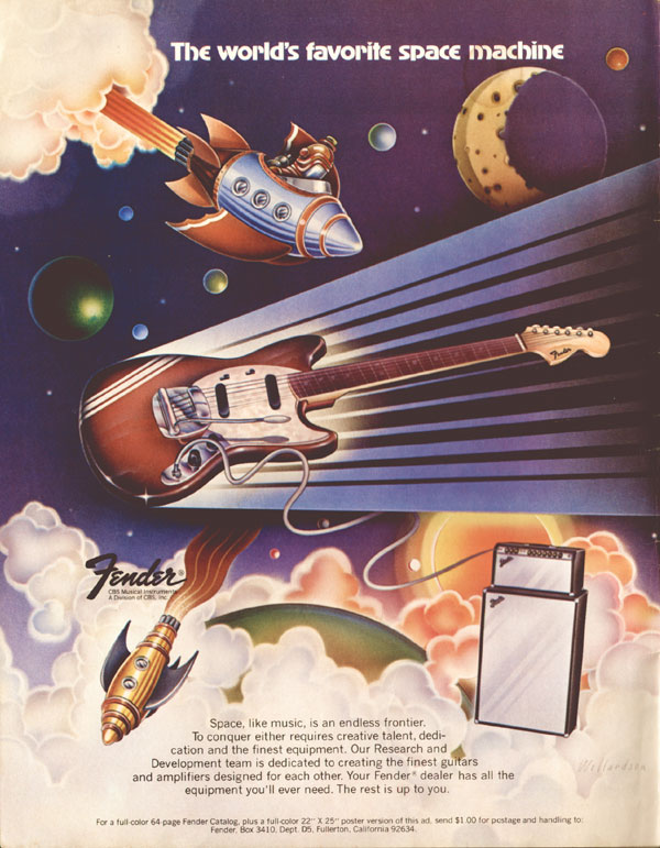 Fender advertisement (1973) The Worlds Favourite Space Machine