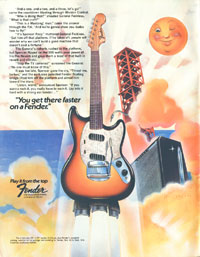 Fender Mustang - You get there faster on a Fender (Fender Mustang)