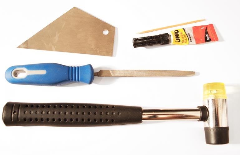 A few inexpensive tools required for DIY fret work