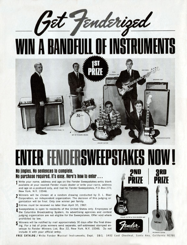 Fender advertisement (1967) Get Fenderized