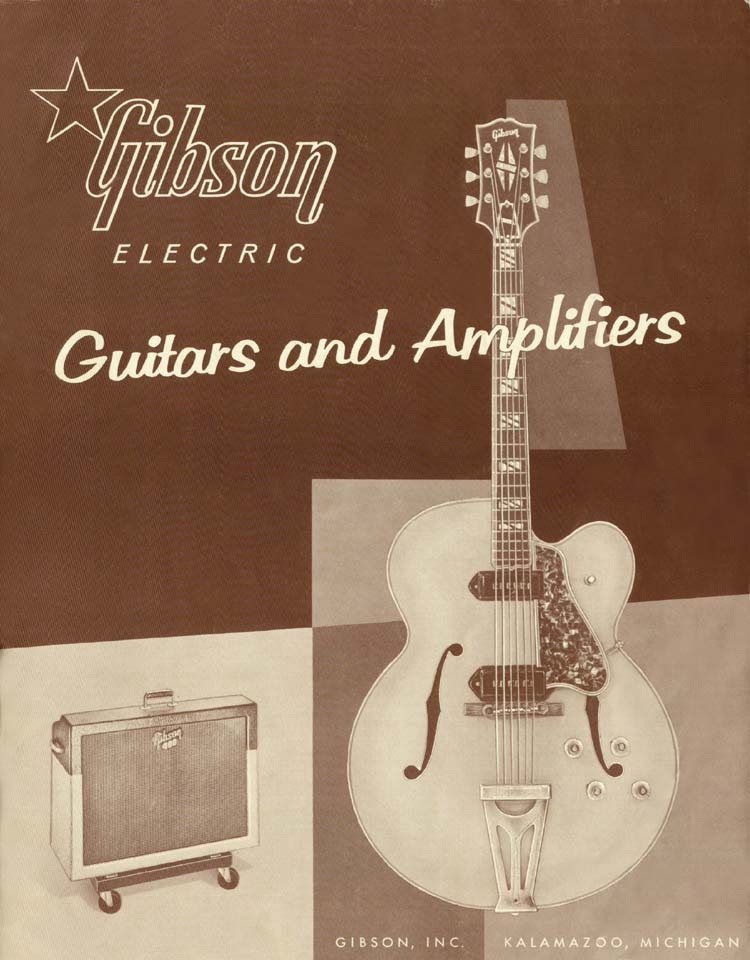 1958 Gibson Electric Guitars and Amplifiers Catalogue front cover