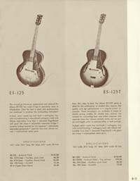 1958 Gibson electric guitars and amplifiers catalogue page 11