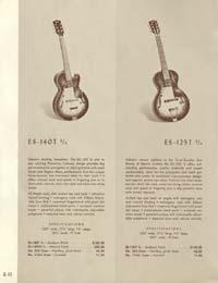 1958 Gibson electric guitars and amplifiers catalogue page 12