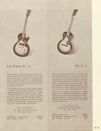 1958 Gibson electric guitars and amplifiers catalogue page 13