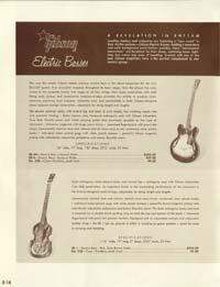 1958 Gibson electric guitars and amplifiers catalogue page 14