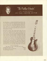 1958 Gibson electric guitars and amplifiers catalogue page 15