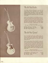 1958 Gibson electric guitars and amplifiers catalogue page 16