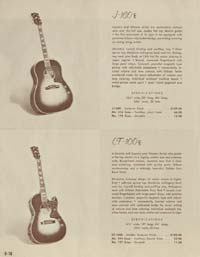 1958 Gibson electric guitars and amplifiers catalogue page 18