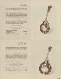 1958 Gibson electric guitars and amplifiers catalogue page 19