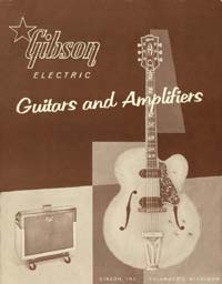 1958 Gibson electric guitar and amplifier catalogue