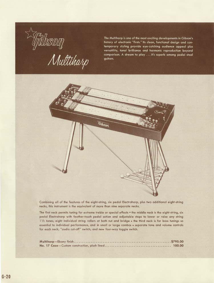 1958 Gibson Electric Guitars and Amplifiers Catalogue page 20 - Multiharp