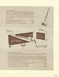 1958 Gibson electric guitars and amplifiers catalogue page 25