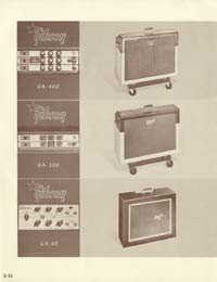 1958 Gibson electric guitars and amplifiers catalogue page 26