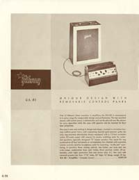 1958 Gibson electric guitars and amplifiers catalogue page 28