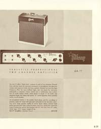 1958 Gibson electric guitars and amplifiers catalogue page 29
