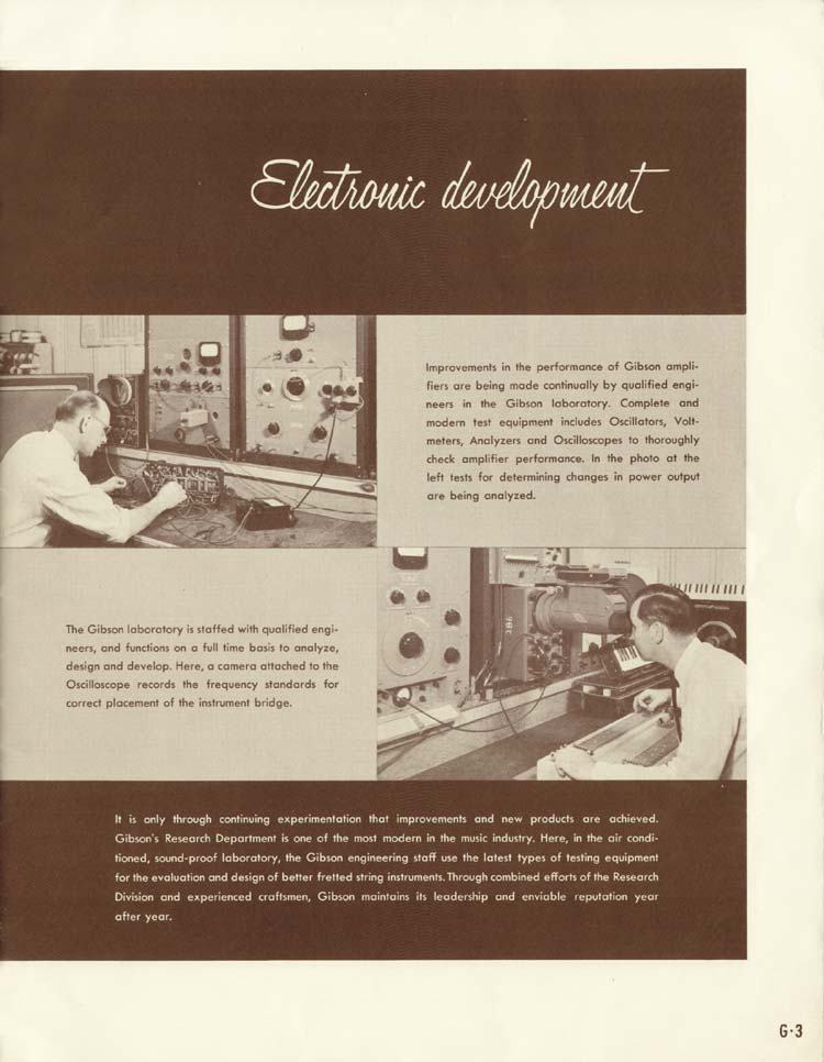1958 Gibson Electric Guitars and Amplifiers Catalogue page 3