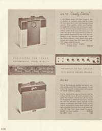 1958 Gibson electric guitars and amplifiers catalogue page 30