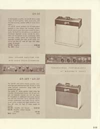 1958 Gibson electric guitars and amplifiers catalogue page 31
