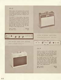 1958 Gibson electric guitars and amplifiers catalogue page 32