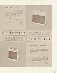 1958 Gibson electric guitars and amplifiers catalogue page 33