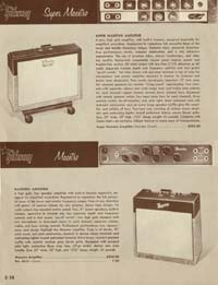 1958 Gibson electric guitars and amplifiers catalogue page 34
