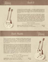 1958 Gibson electric guitars and amplifiers catalogue page 35