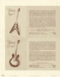 1958 Gibson electric guitars and amplifiers catalogue page 36
