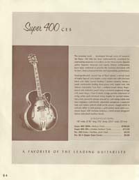 1958 Gibson electric guitars and amplifiers catalogue page 4