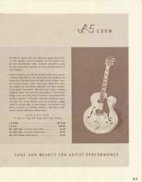 1958 Gibson electric guitars and amplifiers catalogue page 5