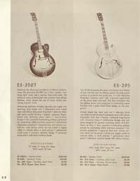1958 Gibson electric guitars and amplifiers catalogue page 8