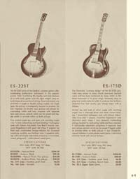 1958 Gibson electric guitars and amplifiers catalogue page 9