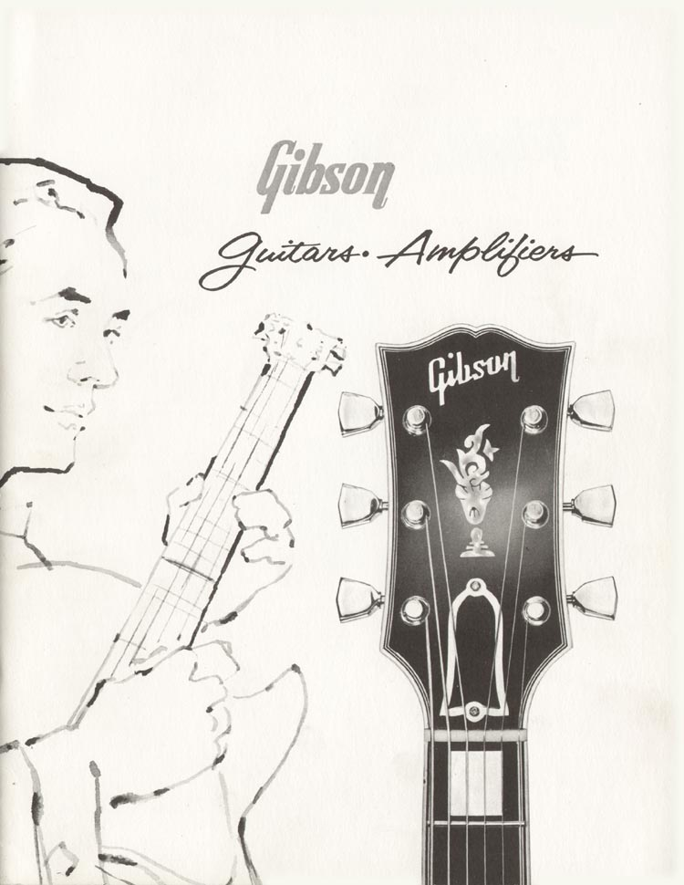 1960 Gibson guitar and bass catalogue front cover