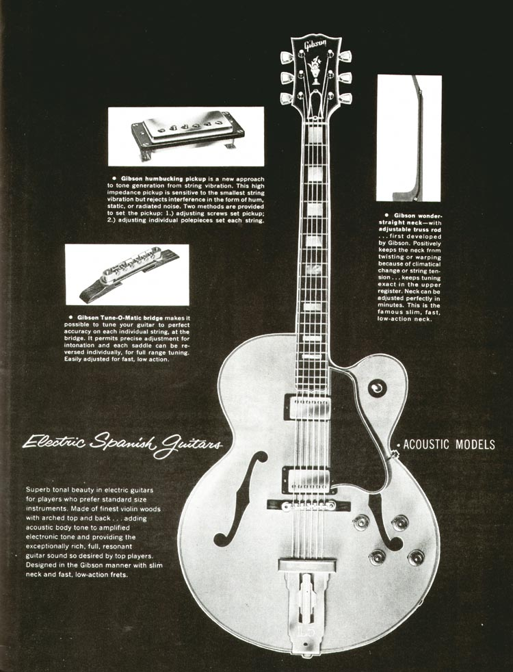 1960 Gibson guitar and bass catalogue - page 13 - Gibson archtops