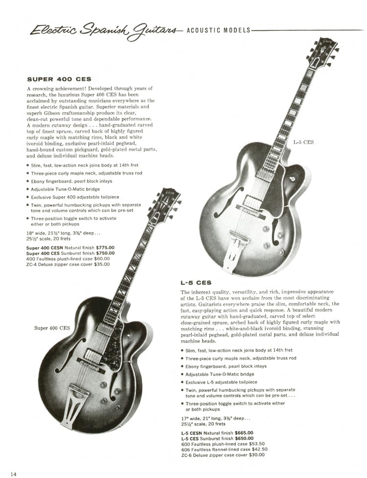 1960 Gibson guitar and bass catalogue - page 14