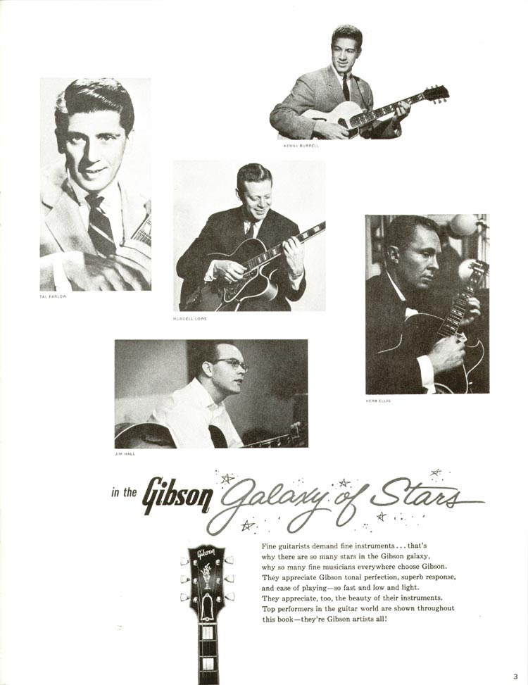 1960 Gibson guitar and bass catalogue - page 3