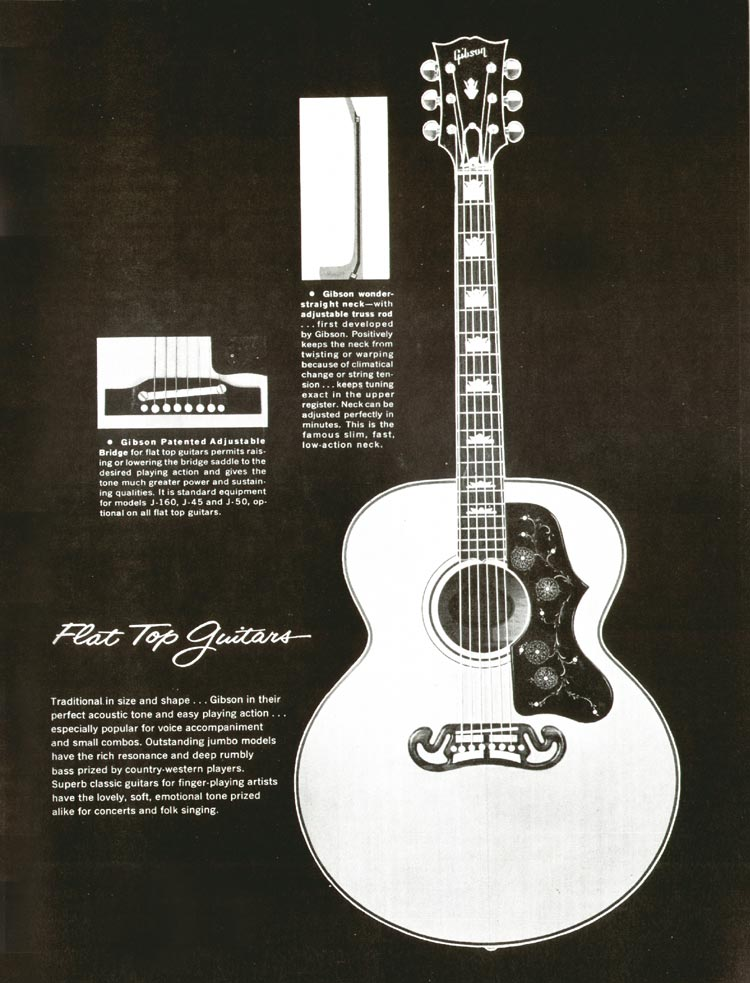 1960 Gibson guitar and bass catalogue - page 31 - Gibson flat top guitars