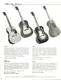 1960 Gibson guitar and bass catalogue page 34