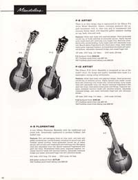 1960 Gibson guitar and bass catalogue page 40