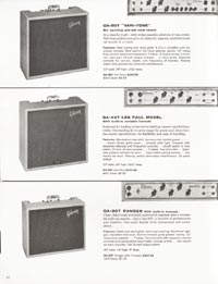 1962 Gibson guitar and bass catalogue page 22